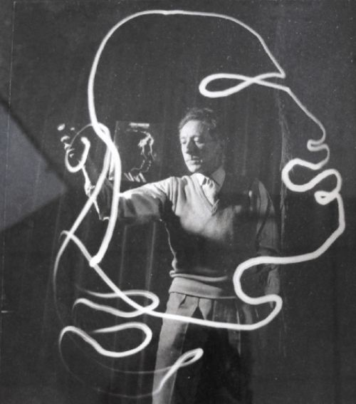 Jean Cocteau - Light painting, 1950