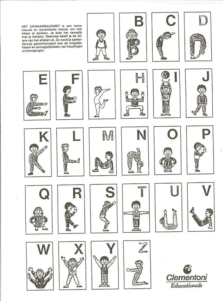 * Maak het alfabet met je eigen lichaam...