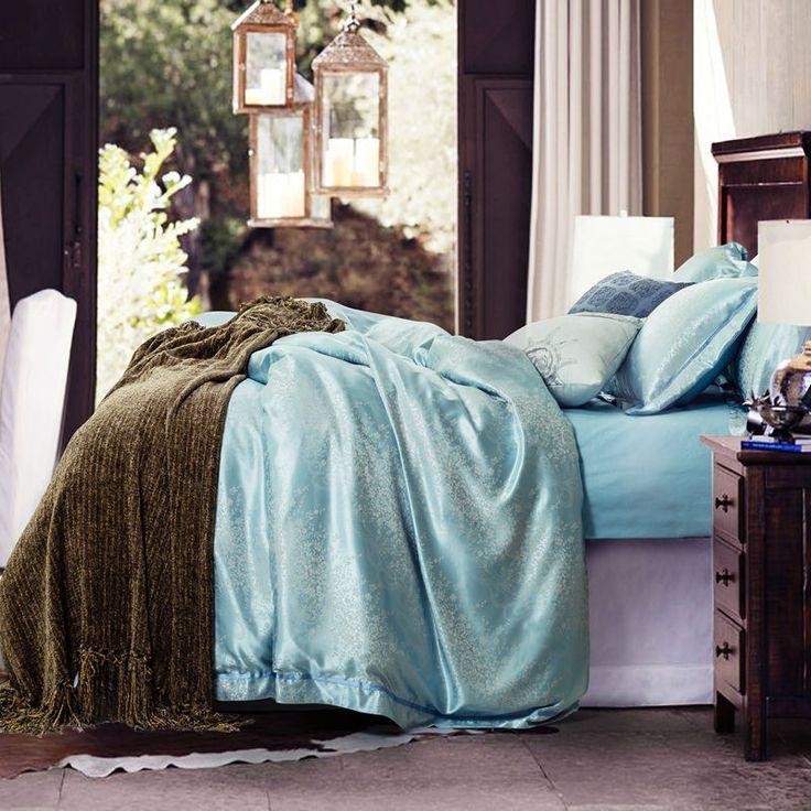 Fairy Blue Silk Cotton Blend Comfortable Luxury Duvet Set. #duvet covers #master bedroom #cheap duvet #soft duvet  #rustic duvet #vintage duvet #boho duvet #romantic duvet #modern duvet #queen duvet #king duvet