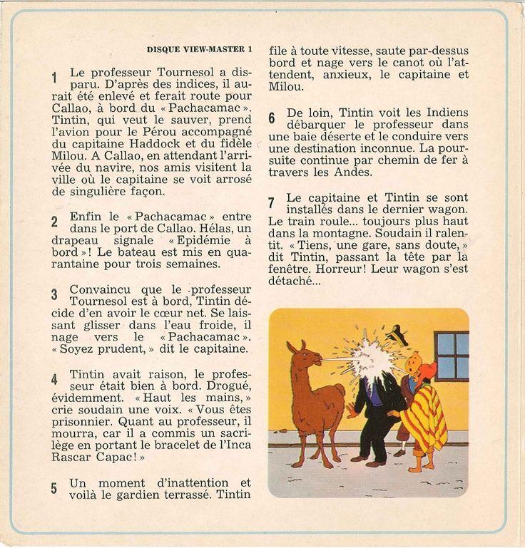 Disque View Master 1 Professeur Tournesol View Master Et Tintin