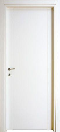 #Porte interne modello 1C in legno listellare. Laccato Ral 9010 - #Bianco. Linea Stilo - Catalogo Aria.