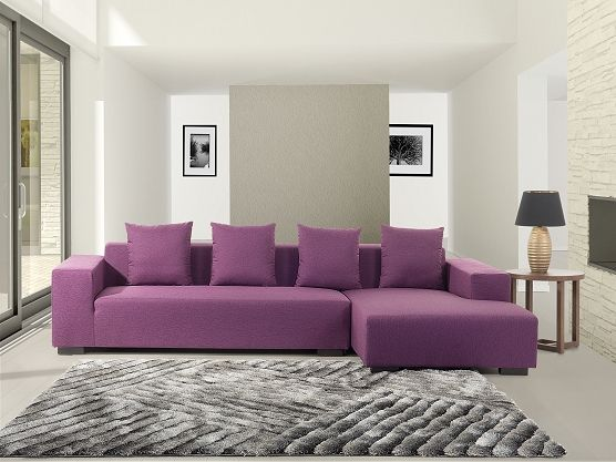 Great Purple And Upholstered Sofa Belianich