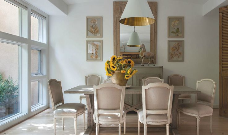 Dining room in Ginger Barber's townhome.