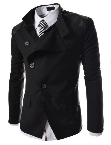 Doublju - Blazer Slim Unique Design Assimétrico Compre roupas de qualidade, com design inovador e preço justo!