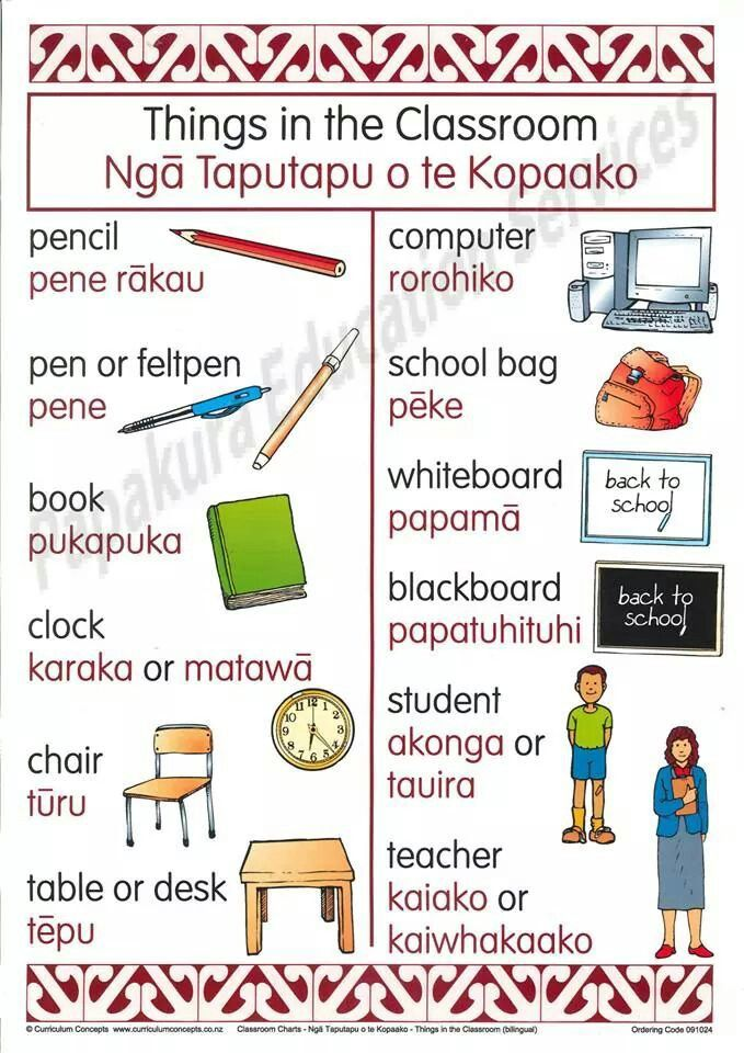 Things in the Classroom: Ngā Taputapu o te Kopaako