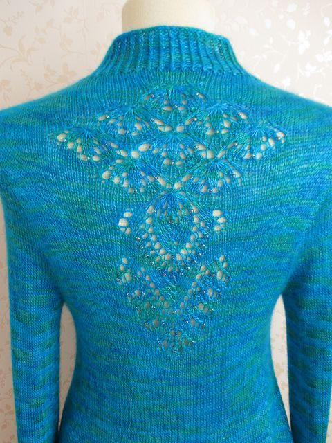 La Pasionaria - Cardigan knitting pattern designed by Rahymah Handworks - Interview with Rahymah on Sakeenah.com