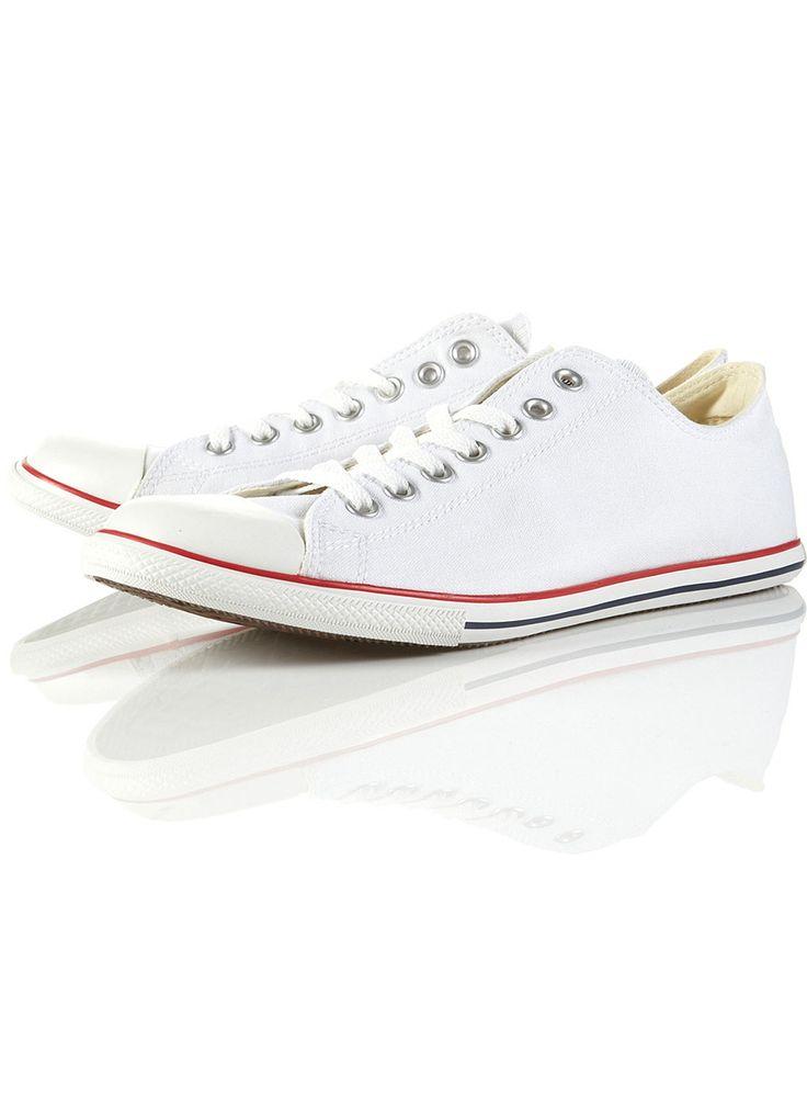 Converse White Slim Plimsolls (Size 10)