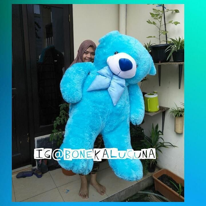 Teddy Bear Superjumbo  Pengiriman Bekasi  Ukuran 13 meter  Berat pengiriman 5kg  Transfer via : Bca Mandiri Bri Bni  Wa /call 081387149713  #bonekalucuna #teddybear #teddybearjumbo #teddybiru