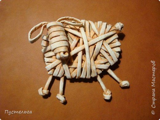 Мастер-класс Поделка изделие Новый год Плетение Овцы и козы Бумага Трубочки…