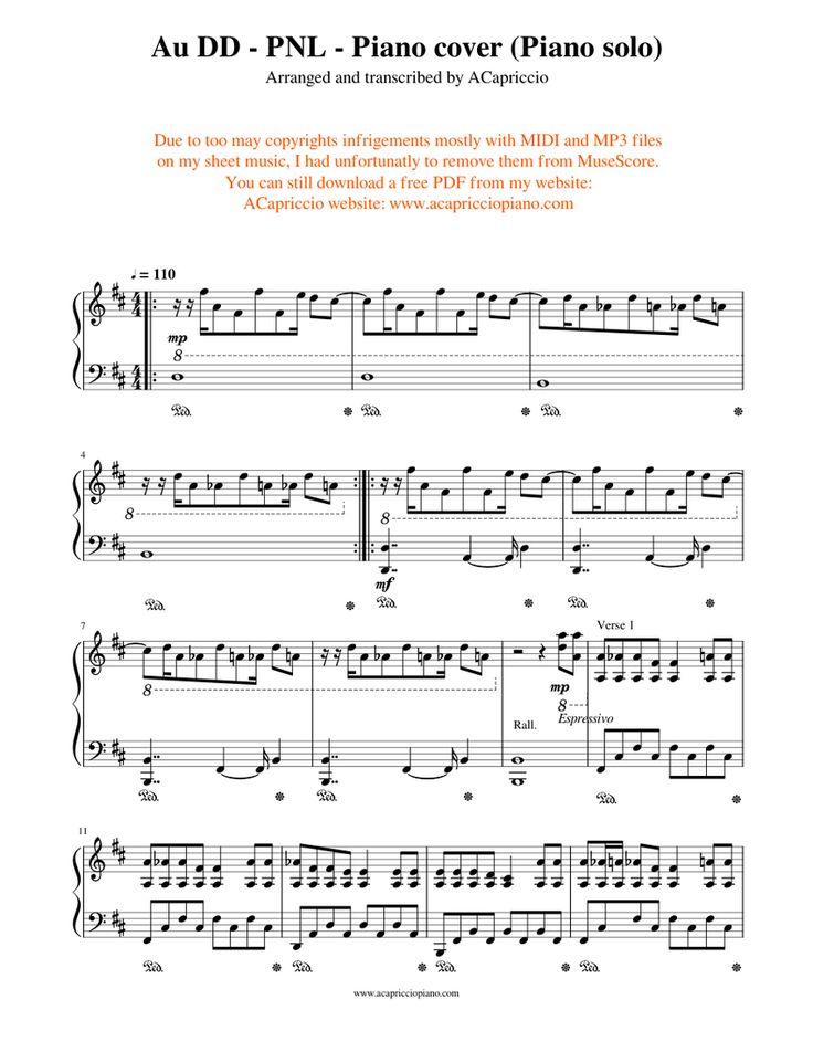 Au Dd Pnl Piano Cover Piano Solo Sheet Music For Piano Download Free In Pdf Or Midi Musescore Com Audd Piano Cover Sheet Music Free Sheet Music