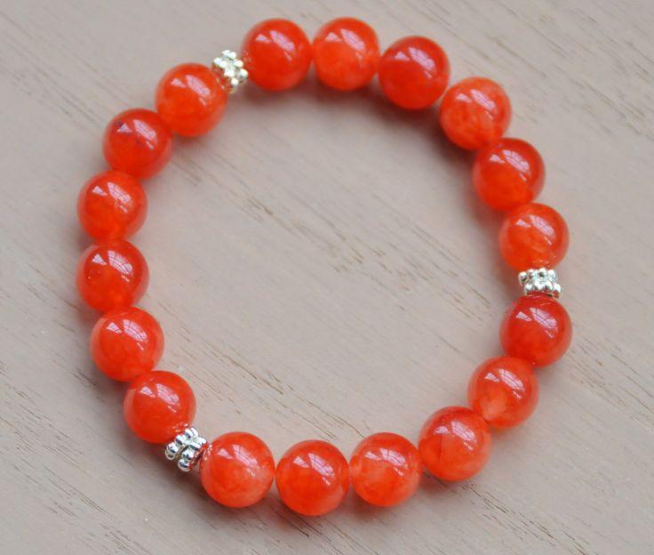 Orange Jade Bracelet/Orange Jewelry/Jade Bracelet/Orange Bracelet/Jade Jewelry/Auburn/Clemson Jewelry/U of Tennessee/Oregon/College Jewelry by BonafideBeads on Etsy https://www.etsy.com/listing/222880373/orange-jade-braceletorange-jewelryjade