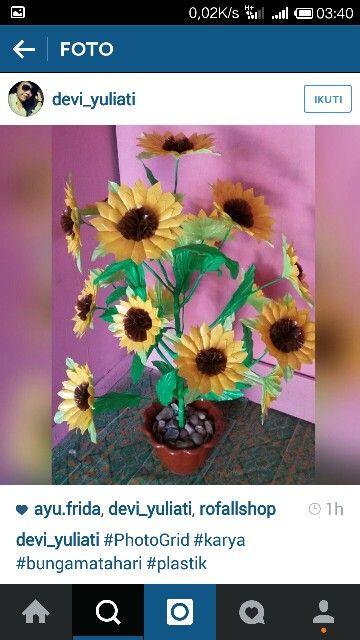 Kreatifitas bunga matahari .. ❤ #sunflower #instagram