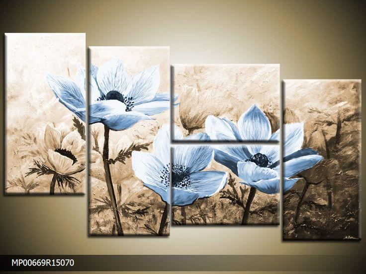 25 beste idee n over blauw bruin op pinterest blauwe kleuren kleurenpalet blauw en diepblauwe - Kleur schilderij ingang ...