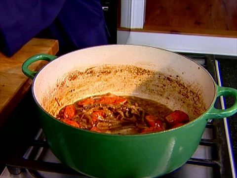 Beef Bourguignon Recipe : Ina Garten just prep and put in crock pot on low for 4 hours to make it crock pot. Not a meal for the weekday!