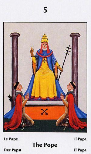 Sens de l'arcane du pape au Tarot de Marseille - tarot-
