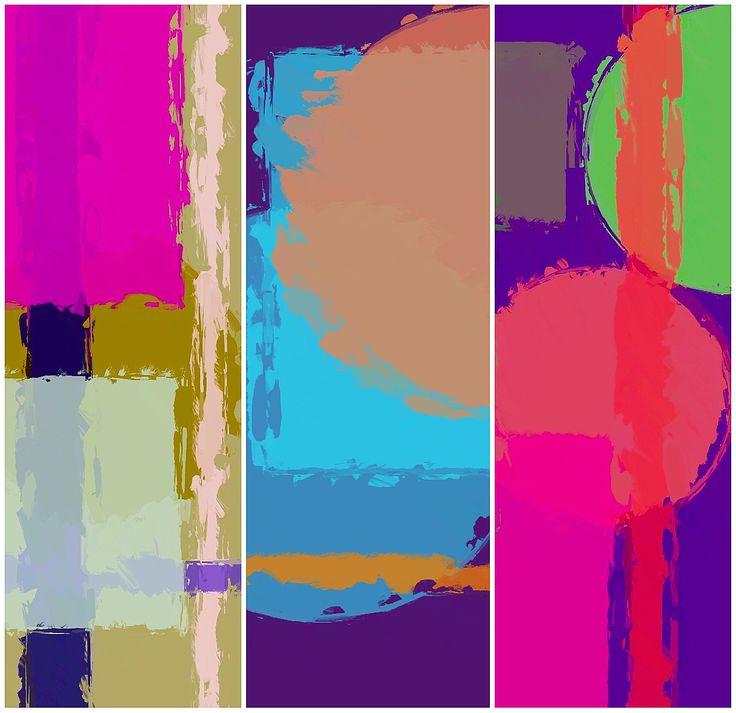 Like most of us, I'm attracted to bright colours. I find quite a lot of new art to be rather bland which surprises me. If you've got a rather dark corner at home ( or in the office), a colourful triptych like this could make a magnificent difference!