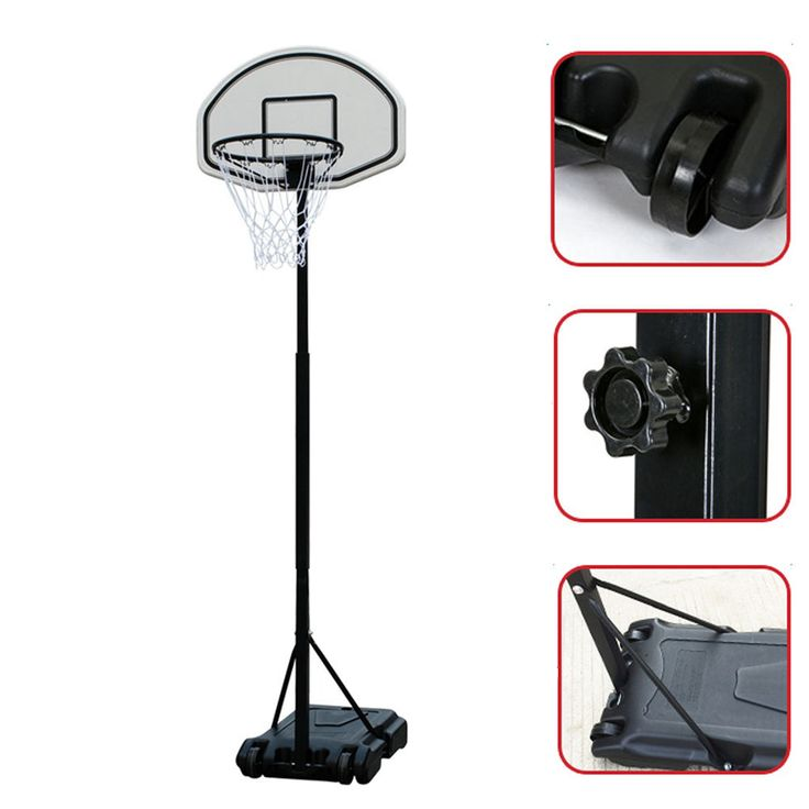 6.7FT Adjustable Height Portable Basketball System Hoop Backboard Rim Junior