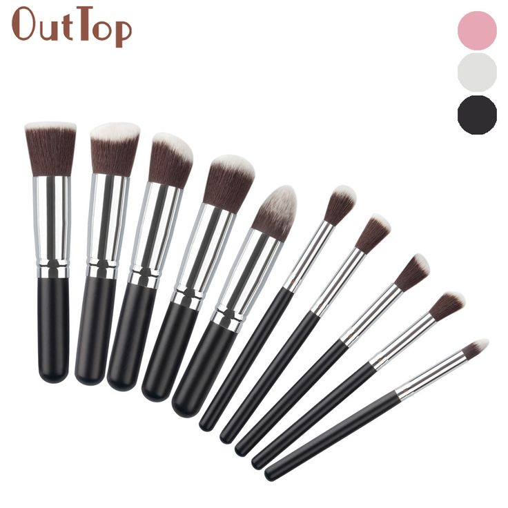 pincel maquiagemGRACEFUL 10PCS/1Set Cosmetic Makeup Brush Brushes Set Foundation Powder Eyeshadow Brush Set   MAY12 #Affiliate