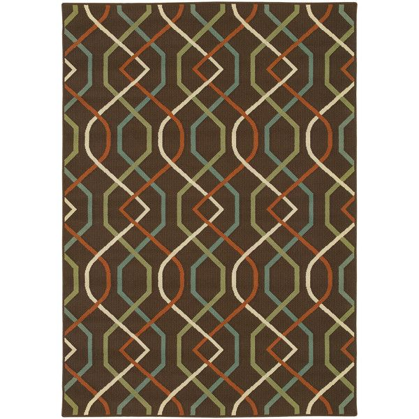 Covington Home Montego Swizzle Indoor/Outdoor Rectangular Rug (3.085 RUB) ❤ liked on Polyvore featuring home, rugs, flat weave area rugs, flatwoven rug, polypropylene area rugs, outdoor area rugs and oriental weavers rugs