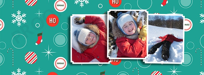 Christmas Facebook Timeline Cover Photo Profile Banner for Photographers or Individuals - Holiday Facebook Timeline.