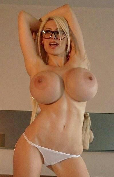 Massive fake boobs nude