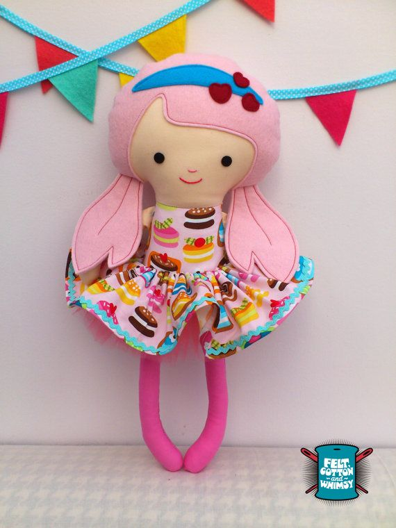 Dolls and Daydreams 18 Inch Soft Toy Doll by FeltCottonandWhimsy