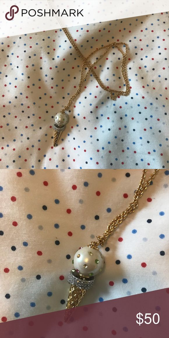 Kate Spade ice cream pendant Flavor of the Month ice cream pendant. No signs of wear & tear, still in perfect condition. No trades. Offers welcome! Always a bundle discount!  Happy Poshing 💕 kate spade Jewelry Necklaces