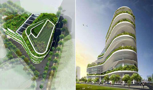 FUSIONOPOLIS: Singapore's New Green Skyscraper | Inhabitat - Green Design, Innovation, Architecture, Green Building