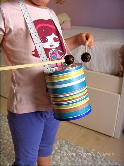 Wie man ein Musikinstrument zu Hause herstellt ,  #BastelnfürKinder #Ein #HAUSE #HERSTELLT #m…