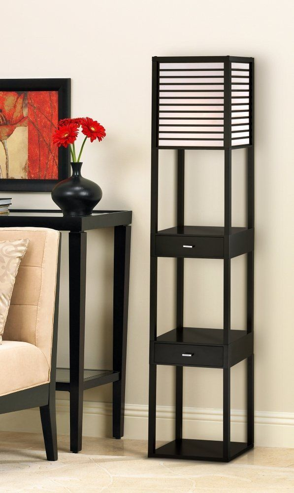 Modern and Contemporary Floor Lamps With Shelves like these meld form with function while keeping within your budget.