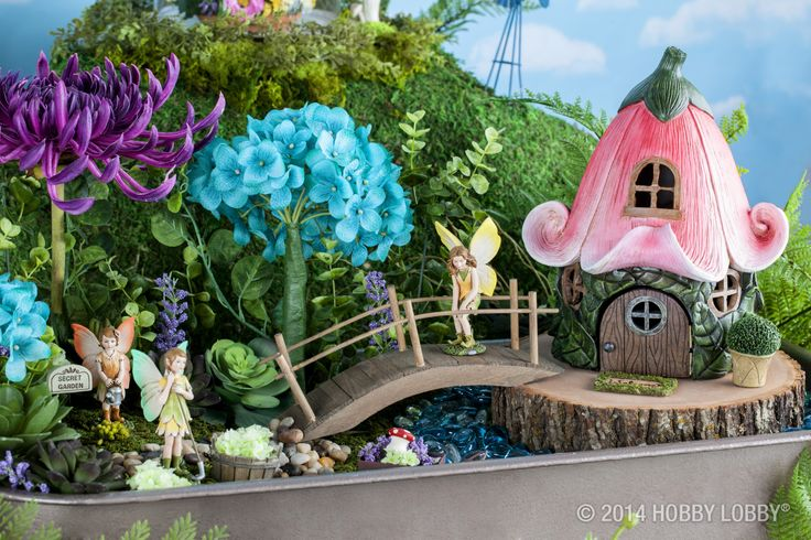 encourage your childs imagination with a beautiful fairy garden complete with miniature fairies and other garden friends - Beautiful Garden Pictures Houses