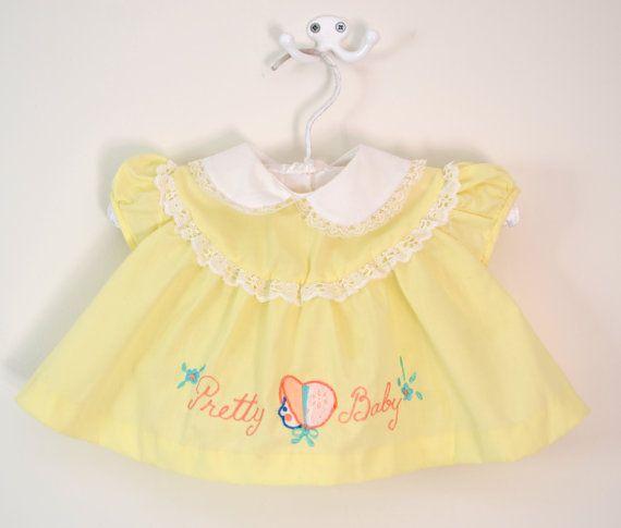 Vintage infant / baby dress.