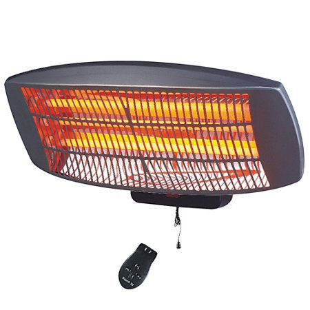 Wall Mounted Infrared Patio Heater With Remote Garage