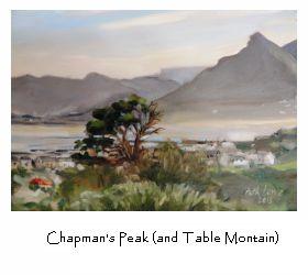 En-plein air original oil paintings in Kommetje, South Africa
