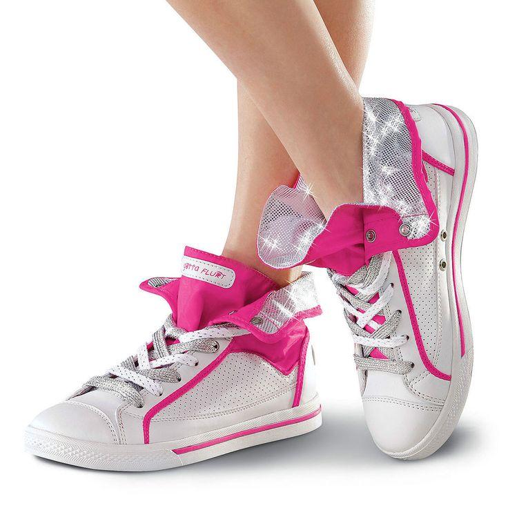 NEW Gotta Flurt High Justice Pink Silver White Hip Hop Jazz Dance Shoes Sneakers #GottaFlurt