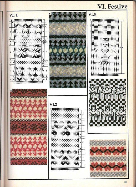 Машинное вязание - жаккард #38