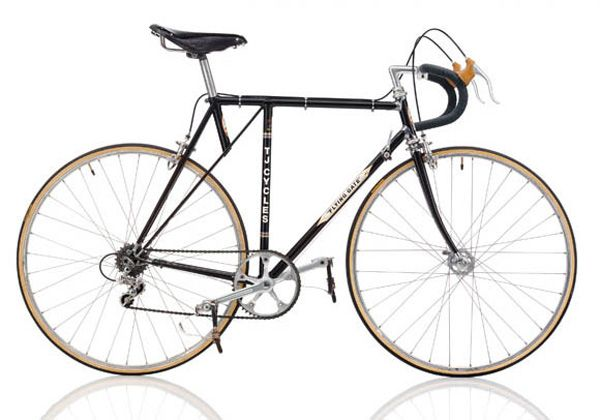 """T.J. CYCLES Flying Gate 80er JAHRE Frame: Steel varnished Bicycle gearing: 1×6 Brakes: Rim Side Pull / Rim Side Pull Tyres: 27"""" Tubular / 27"""" Tubular Weight: 21,83 lbs"""