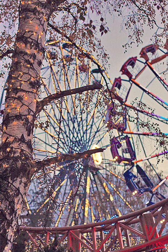 Carnival of Light at the Linnanmäki Amusement Park. Helsinki, Finland.