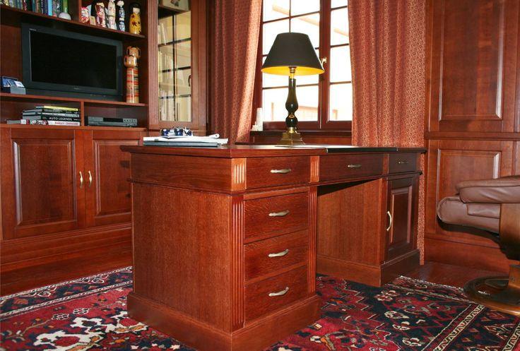 biurko dębowe wykonane na zamówienie