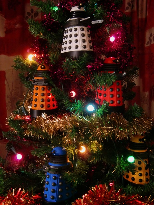 Dalek Christmas Tree: Xmas Trees, Dalek Trees, The Tardis, Doctorwho, Doctors Who, Dr. Who, Christmas Ornaments, Dalek Christmas, Christmas Trees Ornaments