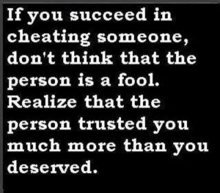 ~ on cheating
