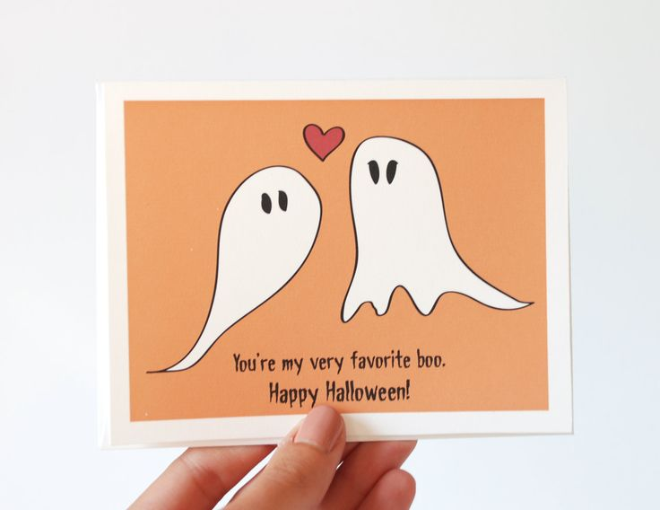 Halloween Card - You're My Very Favorite Boo - I Love You Card. $4.25, via Etsy.