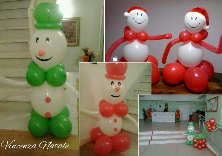 Balloon Art - Pupazzi di neve con palloncini