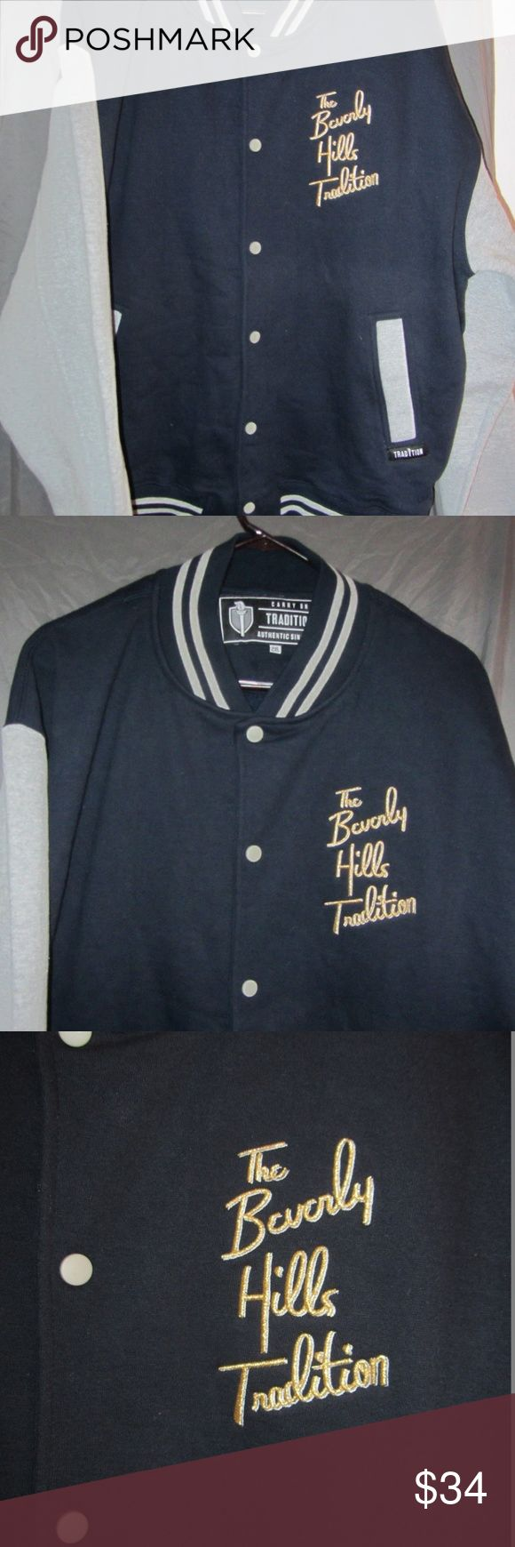 Mens The Beverly Hills Tradition Jacket This is a mens The Beverly Hills Tradition letterman style button front jacket in size 2XL. The Beverly Hills Tradition Jackets & Coats Bomber & Varsity