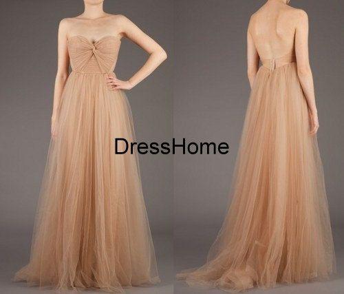 Long Open Back Bridesmaid Dress Bridesmaid Dresses by DressHome
