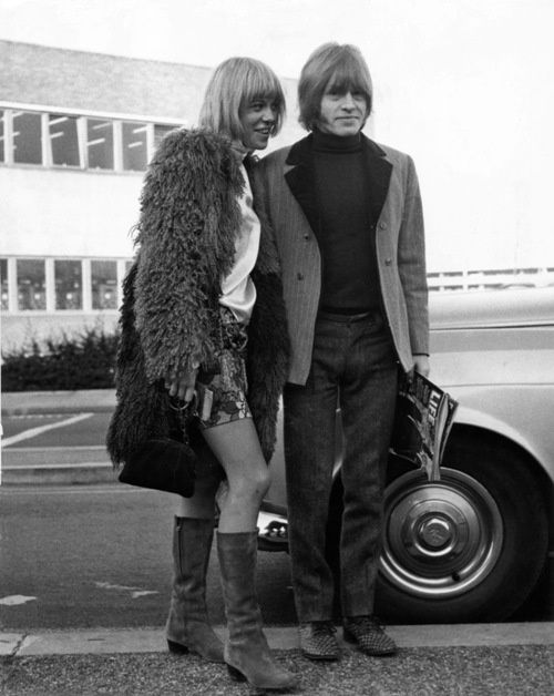 "the60sbazaar: "" Anita Pallenberg and Brian Jones """