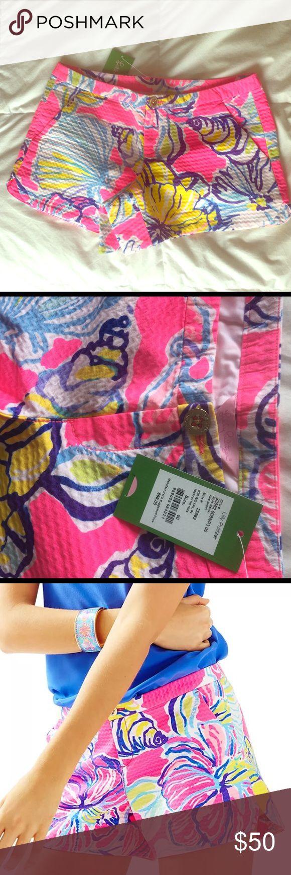 """NWT Lilly Pulitzer Kir Royal Pink Shorts 00 New With Tags! Lilly Pulitzer Women's Shorts size 00. """"KIR ROYAL PI"""" Lilly Pulitzer Shorts"""