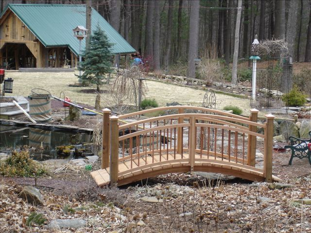 Arched Garden Foot Bridge From Willard Wood Works For