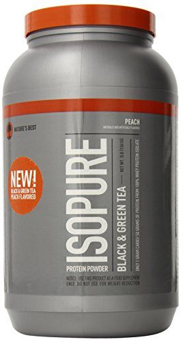 Natures Best Isopure Protein Powder Black and Green Tea Peach 3 Pound *** Want to know more, click on the image.