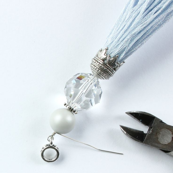 how to make a crystal tassel  #Beading #Jewelry #Tutorials